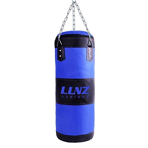 Luniquz Boxsack für Kinder und Jugendliche Punchingsäcke Ungefüllte Hängende Boxsack mit Montagekette für Boxtraining Sandsack Kampfsport