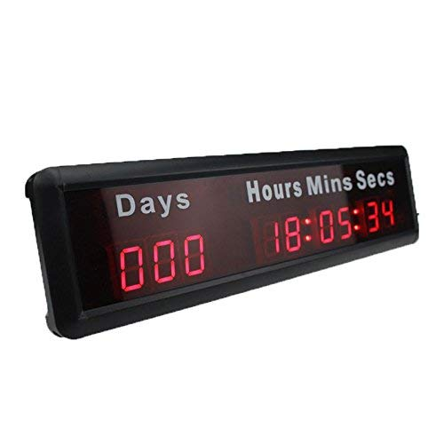 AZOOU 1-inch 9Digits LED Event Timer Countdown/up Clock with Days Hours Mins Secs Max Up to 1000...