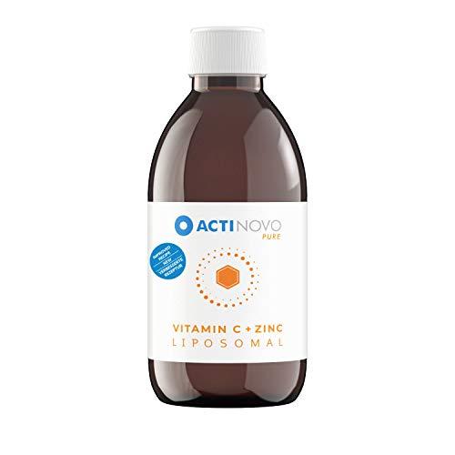 Liposomales Zink + Vitamin C | Sanddorn PURE 250ml | hochdosiert | für dein Immunsystem | Tagesdosis 25 mg Zink | hohe Bioverfügbarkeit | flüssig | ohne Zusätze | vegan