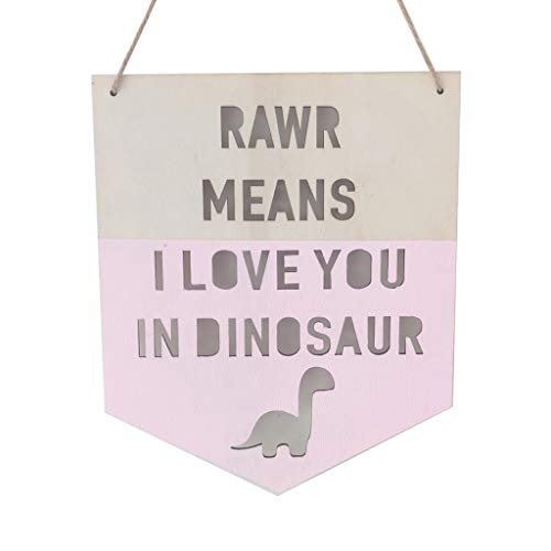 S-TROUBLE INS Wooden Dinosaur Positive Slogan Banner Garland Nordic Kids Room Decoration Ornament Wall Hanging Nursery Decor Photo Props