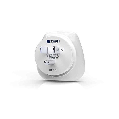 Travel Blue Schuko Netzadapter EU – USA 891 Schutzkontakt Reisestecker von Europa nach Amerika Stromadapter Reiseadapter Ladegerät