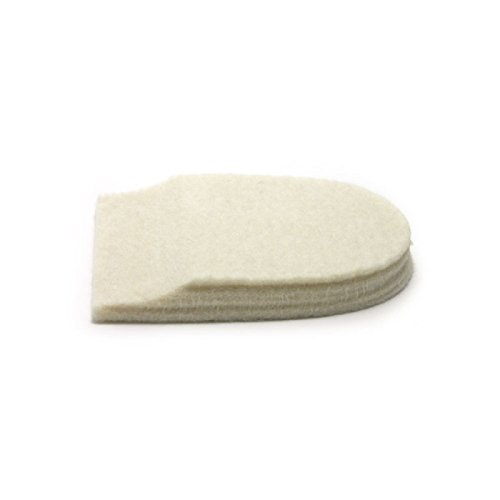"""Felt Heel Cushion Pad 1/2"""" with Adhesive for Pain Relief - 6 Pairs ( 12 Pieces )"""