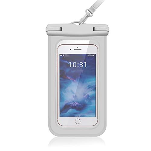 BBSS PVC impermeable teléfono móvil bolsa IPX 8 buceo universal impermeable teléfono móvil, gran teléfono móvil deportes al aire libre teléfono inteligente bolsa impermeable