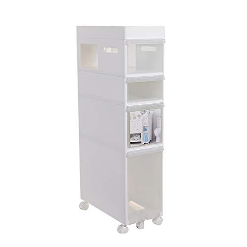 TXXM manufacture Cajonera de almacenamiento con costuras para armarios de almacenamiento y cajones (color: blanco, tamaño: 4 capas)