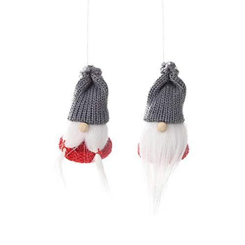 Ljourney Weihnachts Dekorative Anhänger Aus Holz Weihnachts Schmuck Hängen Weihnachtsmann Kleine Puppe Anhänger Für Weihnachtsbaum Dekoration