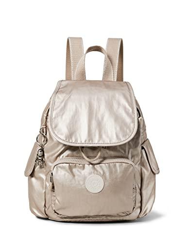 Kipling Damen City Pack Mini Rucksack Silber (Metallic Glow)