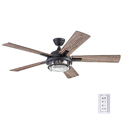 Prominence Home 51484-01 Freyr Ceiling Fan, 52, Heavy Textured Black