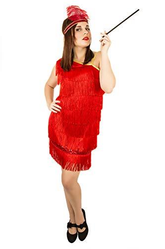 Costumizate! Disfraz de Charleston para Mujer Adulta Especial para Fiestas de Disfraces y Carnaval Talla Unica