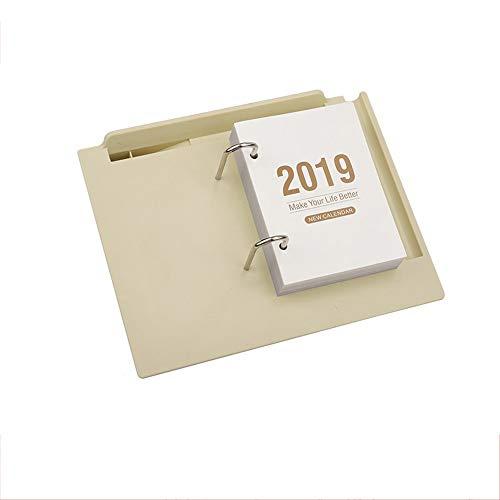 ZSLLO 2019-2020 Calendario creativo pequeño escritorio calendario semanal Oficina de escritorio calendario de trabajo Nota Business Desk s Calendario de aprendizaje Tabla Periódica Planner, multifunci