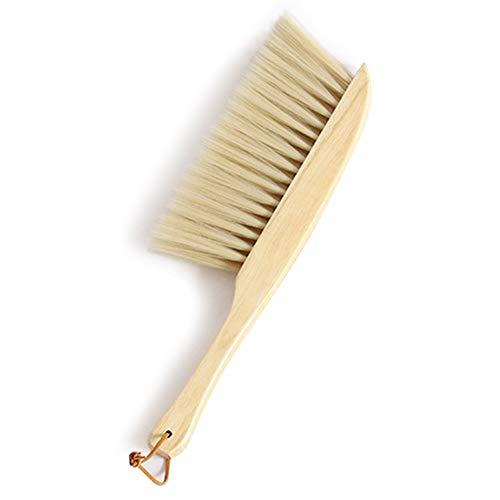 æ— Cepillo pequeño para polvo de cerdas suaves, cepillo de mango de madera, cepillo para limpieza de encimera, cama, ropa de coche