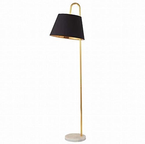 LYGACX Stehleuchte Marmorbasis Einfache Moderne Home Dekorative Kunst Lampe Abdeckung Leselicht E27 Stehleuchte,Black