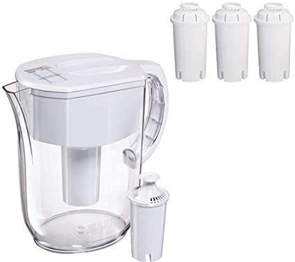 Ultra Max Filtering Dispenser, Extra Large 18 Cup, Black (White 10 Cup Pitcher)