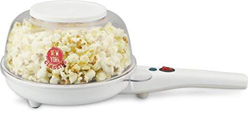 Kalorik TKG PCM 1002 W NYC Popcornmaker, Popcornpfanne, elektrische Pfanne, 800 W, Weiß