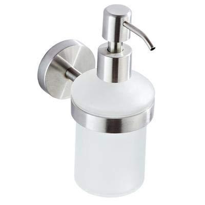 Dispensador de jabón,Botella para jabón líquido,Dispensador de jabón de manos,Acero Inoxidable Cepillado,para gel,acondicionador y champu Montado en la pared