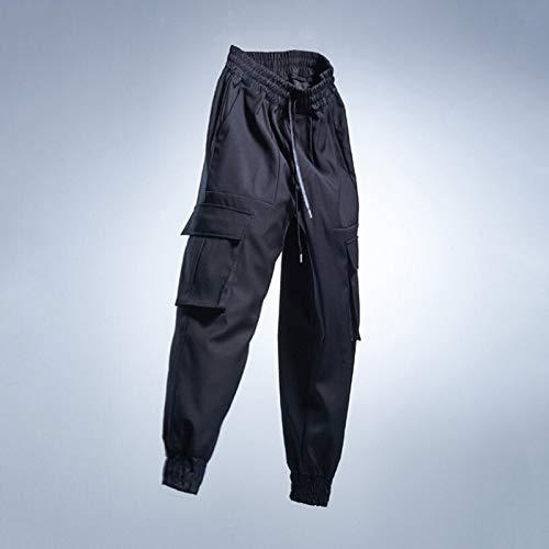 ShFhhwrl Vaqueros de Moda clásica Pantalones Cargo Tácticos para Hombre Pantalones Deportivos Sólidos Casuales Harem Hip Hop Pant
