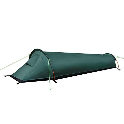 LytHarvest Ultraleichtes Biwak-Zelt, kompakt, Einzelpersonen-Rucksack-Zelt Militär – 100% wasserdichter Schlafsack-Überzug für Outdoor-Überleben, Bushcraft
