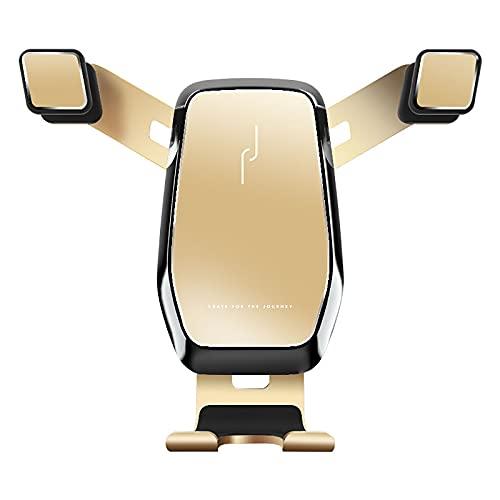 Supporto Per Telefono Da Auto, Supporto Per Sensore Di Gravità Per Uscita Aria Su Auto, Supporto Per Navigazione Generale In Lega Di Alluminio Per Schermo Orizzontale E Verticale (Colore: Oro)