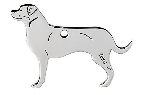 Rottweiler colgante llavero de acero inoxidable Dog-tag bolsa percha mascotas Regalo