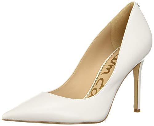 Sam Edelman Women's Classic Hazel Pump, Bright White Leather, 7.5 Medium US