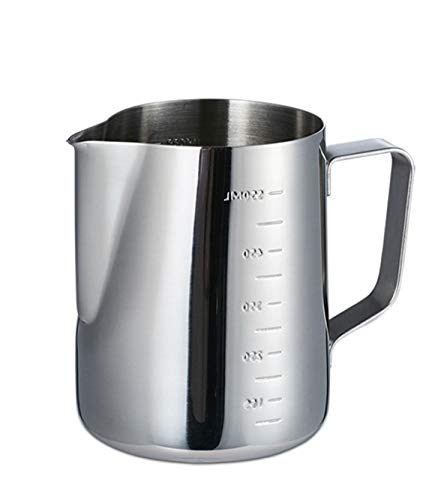 MEAOR 600ml 20oz Espresso Milk Frothing Pitchers, Stainless Steel Pouring Pot, Wax Melting Pot for Making Candles, Soap, Chocolate, Milk, Coffee etc