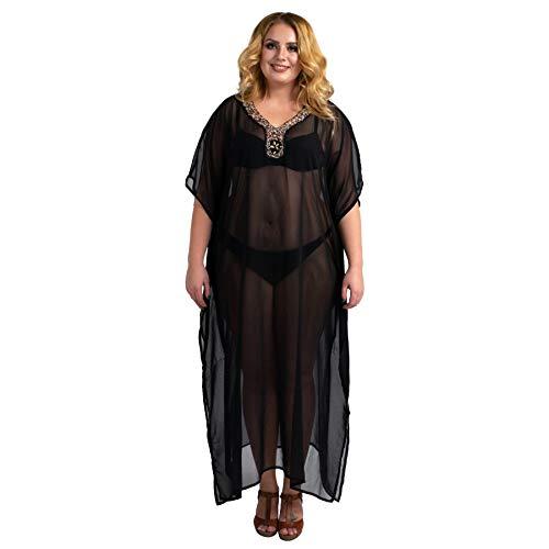 Miss Lavish London kaftan ręcznie haftowane Caftans Beach Cover Up kimono letnie sukienki maxi