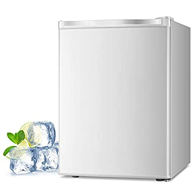 Joy Pebble Free Standing Upright Freezer with Removable Shelf, Adjustable Thermostat, Compact Reversible Single Door Vertical Freezers for Home/Hotel/Apartment/Office (2.1 cu.ft, White)