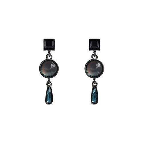Vintage Earrings 925 Silver Needle Suitable For Sensitive Skin, Blue Gems Wild Clothing Ladies Gift