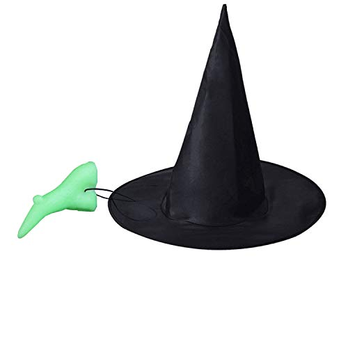 Olen Halloween Witch Hat and Prosthetic Nose Witch...