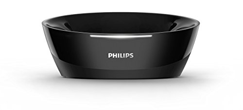 Philips Kabelloser TV Kopfhörer Over Ear SHD8850/12 Wireless HiFi Kopfhörer (Exzellenter Sound, Hi-Res Audio, 30 m Reichweite, Dockingstation, Velours-Ohrpolster) Schwarz