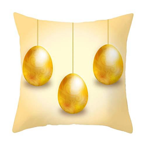 Mku Funda De Almohada De Pascua Conejitos De Conejo Con Funda De Almohada De Huevos, Decoración De Funda De Cojín Para Sofá Cama