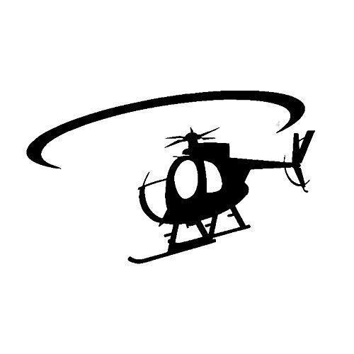 CHANGD Pegatinas transparentes de vinilo con sentido de rotación de helicóptero de calidad exquisita, 16,2 x 9,8 cm (color negro)