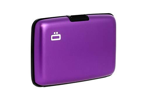Ögon Design Ögon Smart Wallets - Stockholm-Kartenhalter - RFID-Schutz: Schützt Ihre Karten vor Diebstahl - Bis zu 10 Karten + Belege + Notizen - Aluminium eloxiert (Lila)