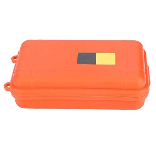 Alomejor Trockenkasten Überleben Aufbewahrungsbox Staubdicht Druckfest Outdoor Survival Versiegelt Container Box für Outdoor Survival(Groß-Orange)