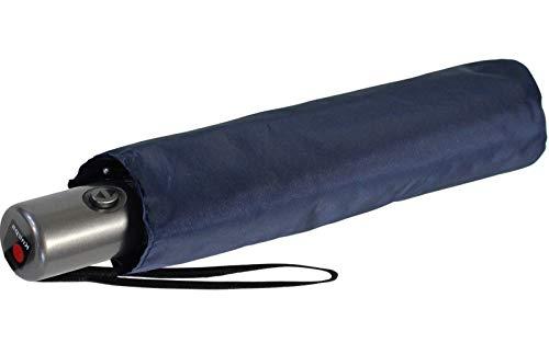 Knirps Regenschirm Slim Duomatic - klein und leicht mit Auf-Zu Automatik - True Blue