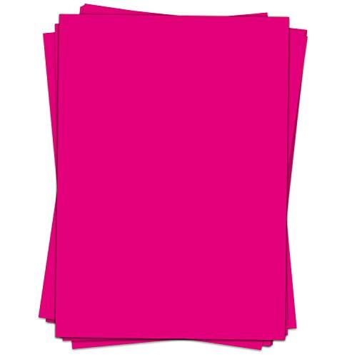 50 Blatt Briefpapier (A4)   einfarbig Rosa Magenta   Motivpapier   edles Design Papier   beidseitig bedruckt   Bastelpapier   90 g/m²
