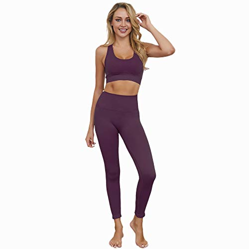 Jstrand Women's Yoga Wear, Naadloos Outdoor Sport Training Suit, Panty's En Top Suit, Yoga Wear, Dames Indoor Sportkleding, Sportkleding, Gymnastiek Pak 2