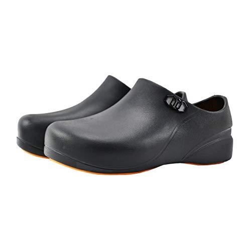 [STICO] スティコ NEC-06 男女兼用 滑り止め 作業靴 コックシューズ 厨房靴 軽量 耐滑 耐油 bk-29