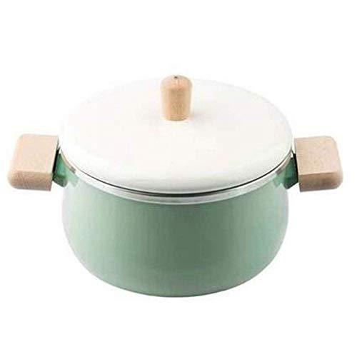 Soup Pot - Small Fresh Enamel Pot Small Milk Pot Baby Food Supplement Pot Household Soup Pot Instant Noodle Pot (Color : A)