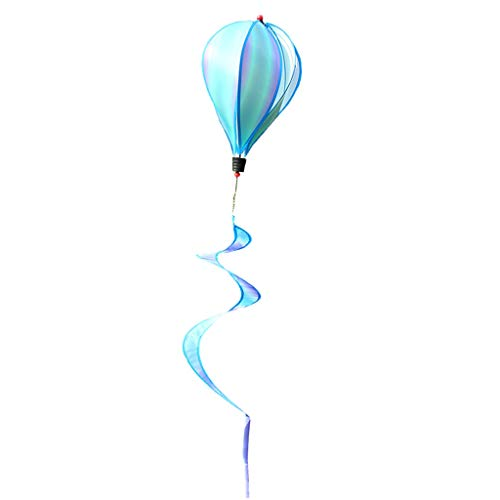 PETSOLA Bunter Wind Drehbeschleunigungs Regenbogen Bunte Wolke Für Dekorative Windmühlen Im Freien - Blaue Wolke