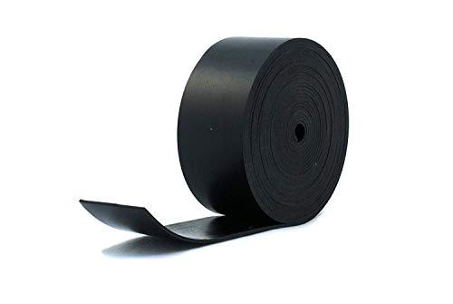 Bande de caoutchouc néoprène noir résistant, 50 mm de large x 2 mm d'épaisseur x 5 m de long