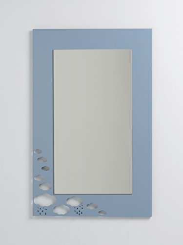 DECOHOGAR.SHOP Miroir rectangulaire Mural pour Enfants - Petits Nuages- 47 x 70 cm - Laqué Blanc