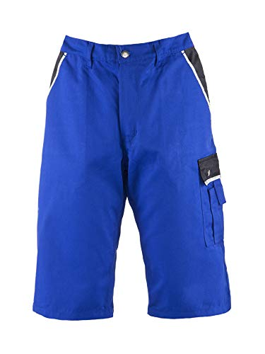 TMG TMG® Style, Kurze Arbeitshose für Herren, Arbeitsshorts mit Werkzeugtasche, Blau 46