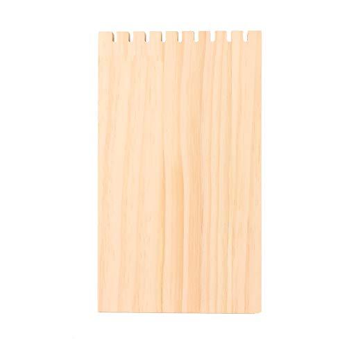 OIHODFHB 9 ranuras de madera simple escritorio decoración adorno collar joyería exhibición tablero soporte