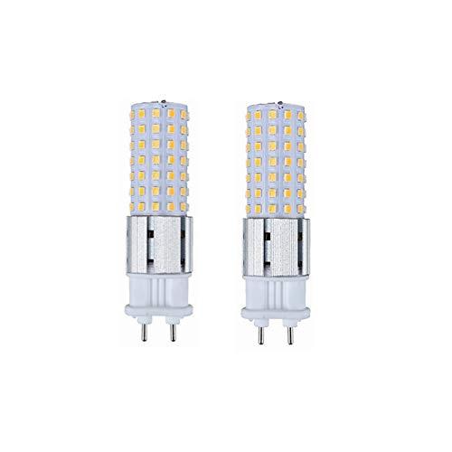 15W G12 LED-lampen Lustaled G12 Base halogeenspot 100W Replacement Corn Light Bulb 360 ° Flood Lamp For Straat Garage Landscape Warehouse Factory AC85-265V 2-Pack WELSUN (Color : Warm white)