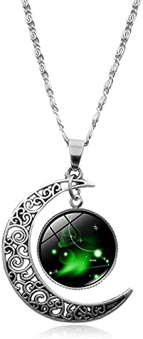 12 Constellation Necklace New life Crescent Wholesale Moon Pendant Zodiac Galaxy As