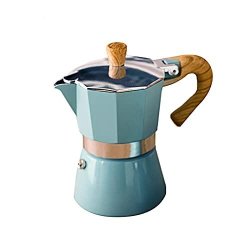 Hogar Aluminio Italiano Moka Espresso Cafetera Percolators Stove Top Pot 150/30 0ML Herramientas de cocina Stovetop Cafetera (Color : 150ml)