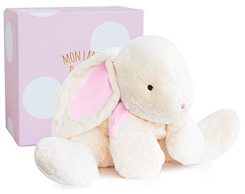 Doudou et Compagnie - Peluche Range-Pyjama Enfant + Coffre - Lapin - 45 cm - Rose - Lapin Bonbon -1245