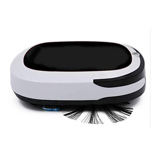 LIANGANAN Robot Aspirapolvere 7 Centimetri Super Sottile 55dB Tranquillo Vuoto e Mop 2 in 1 for Capelli Pet, tappeti, Piastrelle, Pavimenti duri, Rosso zhuang94 (Color : Black)