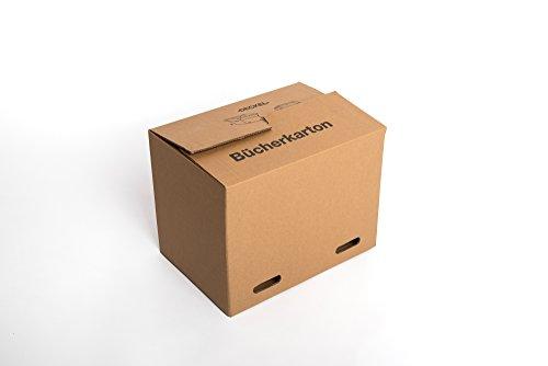 Umzugskartons 500x350x370 mm, Umzugskisten, Bücher Karton, Kiste, 2-wellig, Stabil (Profi), supergünstig, 10 Stück