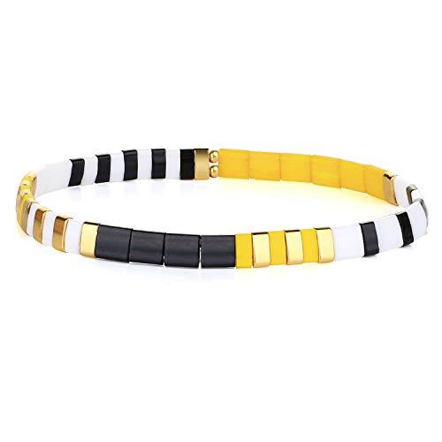 KANYEE Bracelets élastique Bracelets D'amitié Fait Main Bracelets Perlés Tila Bracelets Breloques De Mode pour Femme – 9B